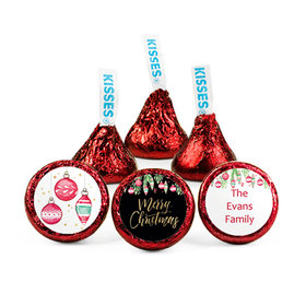 Personalized Bonnie Marcus Christmas Ornate Ornaments Hershey's Kisses (50 pack)