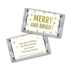 Personalized Bonnie Marcus Mini Wrappers Only - Christmas Glittery Gold