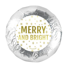 """Personalized 1.25"""" Stickers - Christmas Merry & Bright (48 Stickers)"""