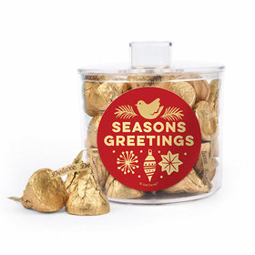Seasons Greetings Container with Deluxe Hershey's Kisses