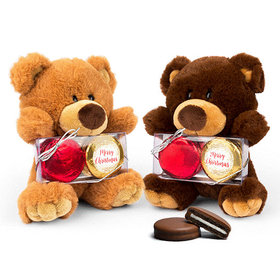 Shimmering Pines Teddy Bear with Chocolate Covered Oreo 2pk