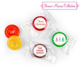 Personalized Life Savers 5 Flavor Hard Candy - Christmas Shimmering Pines