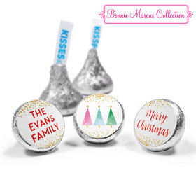 Personalized Hershey's Kisses - Christmas Shimmering Pines (50 Pack)