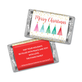 Personalized Bonnie Marcus Hershey's Miniatures - Christmas Shimmering Pines