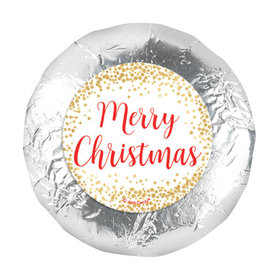 "Personalized 1.25"" Stickers - Christmas Shimmering Pines (48 Stickers)"