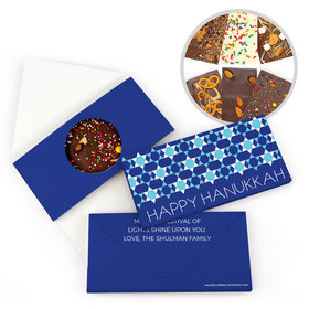 Personalized Hanukkah Quilt Gourmet Infused Belgian Chocolate Bars (3.5oz)