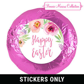 """Bonnie Marcus Collection Easter Pink Flowers 1.25"""" Stickers (48 Stickers)"""