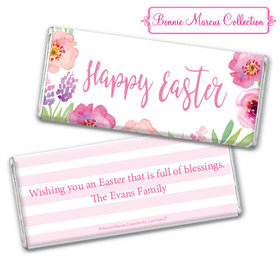 Bonnie Marcus Collection Easter Pink Flowers Chocolate Bar & Wrapper