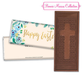 Bonnie Marcus Collection Easter Blue Flowers Embossed Chocolate Bar & Wrapper