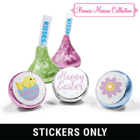 """Bonnie Marcus Collection Easter Purple Flowers 3/4"""" Sticker (108 Stickers)"""