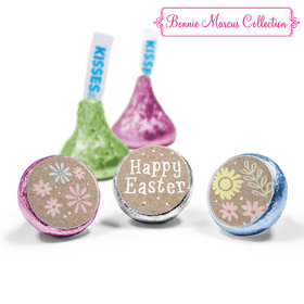 Bonnie Marcus Collection Easter Pastel Flowers Hershey's Kisses Assembled (50 Pack)