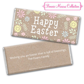 Bonnie Marcus Collection Easter Pastel Flowers Chocolate Bar & Wrapper