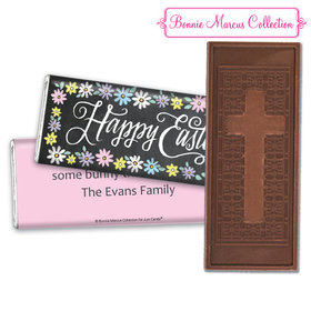 Bonnie Marcus Collection Happy Easter Script Embossed Chocolate Bar & Wrapper