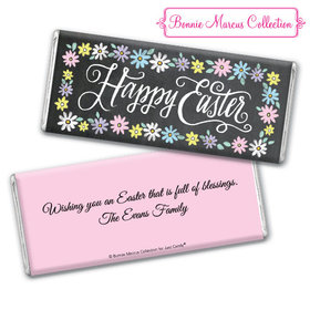 Bonnie Marcus Collection Happy Easter Script Chocolate Bar & Wrapper