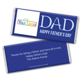 Personalized Bonnie Marcus Collection Add Your Logo Father's Day Chocolate Bar Wrappers Only