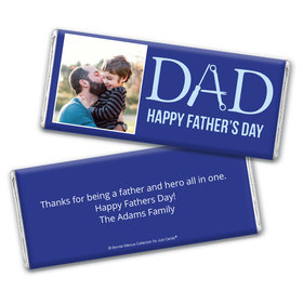 Personalized Bonnie Marcus Collection Father's Day Photo Chocolate Bar Wrappers Only