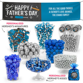 Personalized Father's Day Tools Deluxe Candy Buffet