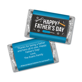 Personalized Bonnie Marcus Collection Father's Day Tools Hershey's Miniatures Wrappers