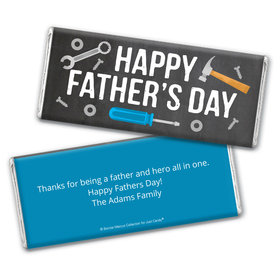 Personalized Bonnie Marcus Collection Father's Day Tools Chocolate Bar Wrappers Only