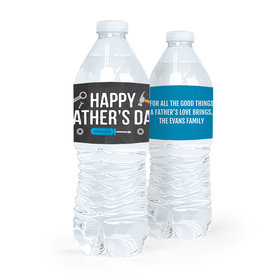 Personalized Father's Day Tools Water Bottle Labels (5 Labels)