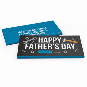 Deluxe Personalized Father's Day Tools Chocolate Bar in Gift Box