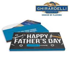 Deluxe Personalized Tools Father's Day Ghirardelli Chocolate Bar in Gift Box