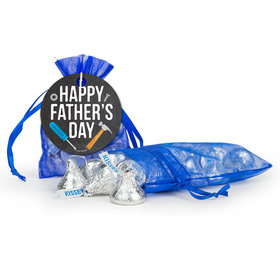Bonnie Marcus Father's Day Tools Hershey's Kisses in Organza Bags with Gift Tag