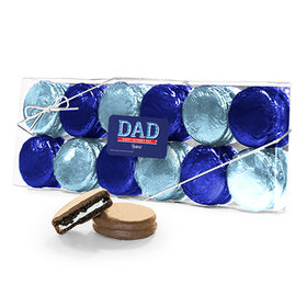 Bonnie Marcus Collection Personalized Plaid Father's Day 12PK Chocolate Covered Oreo Cookies