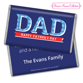 Personalized Father's Day Plaid Giant 1lb Hershey's Chocolate Bar