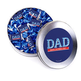 Bonnie Marcus Collection Father's Day Plaid Silver Gift Tin Hershey's Mix