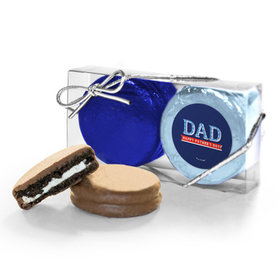 Bonnie Marcus Collection Plaid Father's Day 2PK Chocolate Covered Oreo Cookies