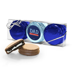 Bonnie Marcus Collection Plaid Father's Day 3PK Chocolate Covered Oreo Cookies