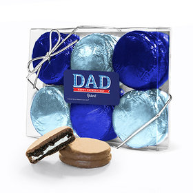 Bonnie Marcus Collection Personalized Plaid Father's Day 6PK Chocolate Covered Oreo Cookies