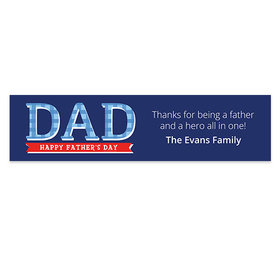 Personalized Bonnie Marcus Plaid Father's Day Banner