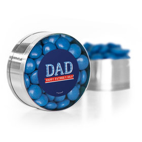 Bonnie Marcus Collection Father's Day Plaid Small Silver Plastic Tin