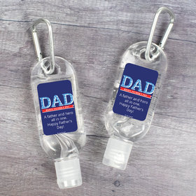 Personalized Father's Day DAD Hand Sanitizer with Carabiner - 1 fl. Oz.