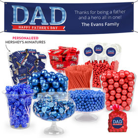 Personalized Father's Day Deluxe Candy Buffet