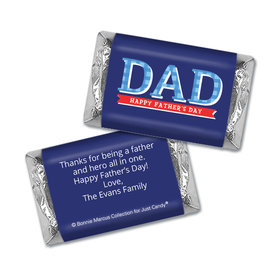 Personalized Bonnie Marcus Collection Father's Day Plaid Hershey's Miniatures Wrappers