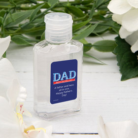 Personalized Father's Day DAD Hand Sanitizer with Carabiner - 2 fl. Oz.