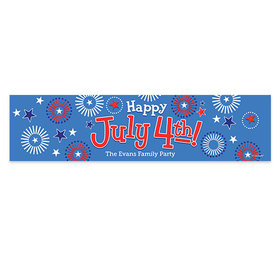 Personalized Bonnie Marcus Independence Day Fireworks 5 Ft. Banner
