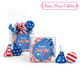 Bonnie Marcus Collection Fireworks Independence Day Clear Gift Box
