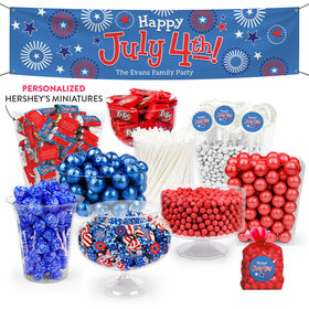 Personalized Independence Day Fireworks Deluxe Candy Buffet