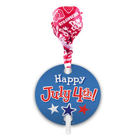 Bonnie Marcus 4th of July Dum Dums with Gift Tag (75 pops)