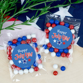 Happy 4th of July Candy Bags with Sixlets