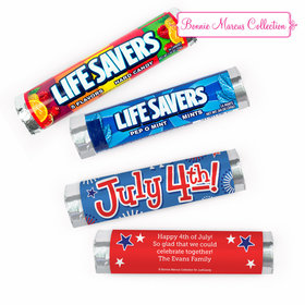 Personalized Bonnie Marcus Fireworks Independence Day Lifesavers Rolls (20 Rolls)