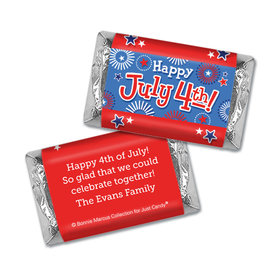 Personalized Bonnie Marcus Independence Day Fireworks Hershey's Miniatures Wrappers