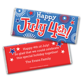 Personalized Bonnie Marcus Fireworks Independence Day Chocolate Bar Wrappers