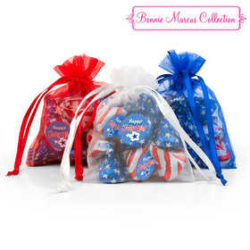 Bonnie Marcus Independence Day Fireworks Extra Small Organza Bags with Hershey's Kisses