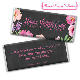 Bonnie Marcus Collection Mother's Day Personalized Chocolate Bar Chocolate & Wrapper Floral Embrace Mother's Day Favors