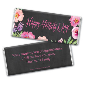 Floral EmbraceMother's Day Favors Personalized Candy Bar - Wrapper Only